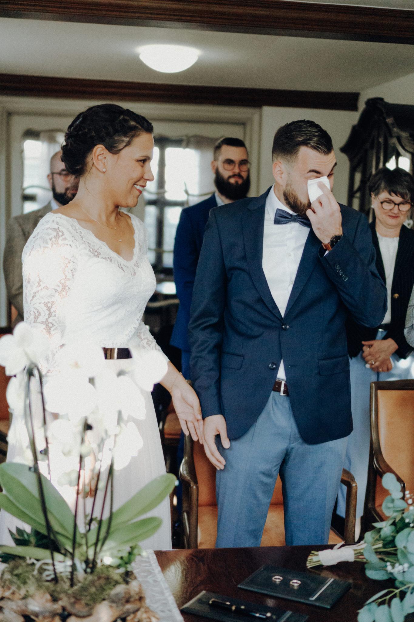emotionales Hochzeitsfoto